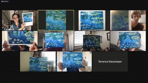 Monet's Waterlilies |  Paint With Merlot  | Pride Month | Mishkalo