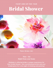 Bridal Shower | Paint and Sip| Mishkalo