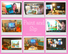 Virtual Paint and Sip Night | Team Building | Corporate event | Mishkalo